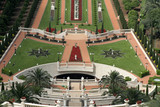 view over bahai garden haifa israel poster