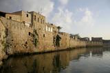 fortified walls by seaside akko israel poster