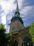An image of a church in the swedish capital of stockholm poster