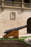 canon devant le musée naval de Palma aux Baléares poster