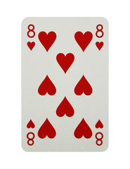 Eight of hearts card