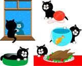 Cartoon cat series poster