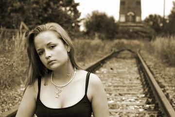 Schienenfrau