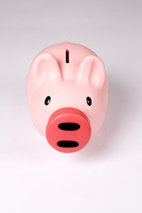 Piggy bank, frontal shot. Easy to cut