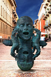 Humorous Statue in Turin, Italy poster