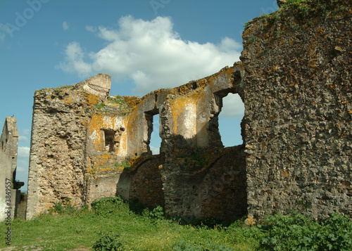 Old ruins of old castle in Portugal