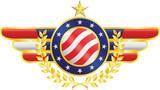 Vector american patriotic emblem poster