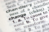 "A macro shot of the word ""Change"" from the dictionary"