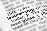 "A macro shot of the word ""Leadership"" from the dictionary"