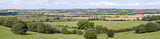 view over warwickshire countryside  poster