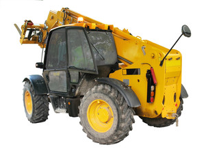 Isolated construction vehicle