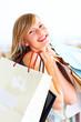 Случайные девочка с сумок - портрет привлекательный молодой женщины...