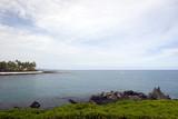 Azure Ocean at Kona Island Volcanic Lava Shore, Hawaii poster