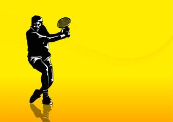 Tennis man silhouette