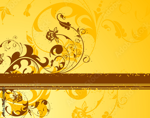 Flower background, element for design, vector illustration