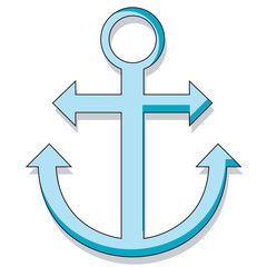 Cartoon style anchor