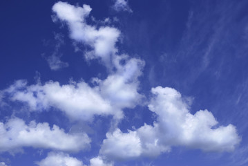 nature background with clouds in summer day
