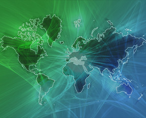 World data transfer green