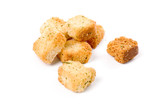 croutons close up shot for background