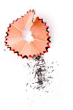 Pencil Shavings with white background poster