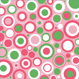 Pink, Green and White Circles
