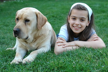 Girl an dog