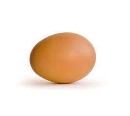 Three egg on white background