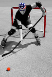 street hockey player in action #2 poster