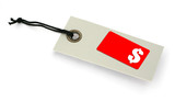 Sale tag with copy space for price and $ symbol,  poster
