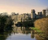 warwick castle warwickshire midlands england uk river avon poster