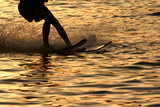 Fototapeta zachód - morze - Poza Pracą / Sporty