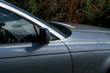 silver car wing mirror