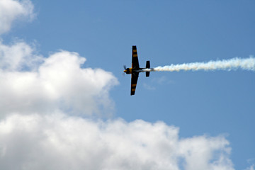 race plane through the sky