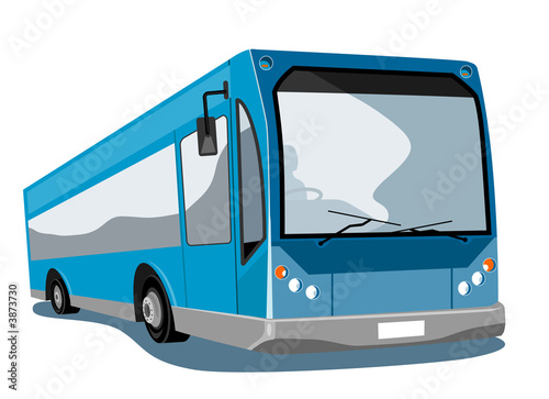 Blue Coach bus