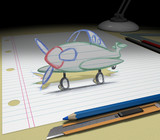 Travel or Buying Airplane / Sketch your ideas and plans. poster