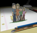Family / Sketch your ideas and plans poster