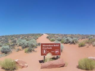 Wanderschild Horseshoe Bend, Usa
