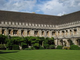 Oxford University, Magdalen College courtyard cloisters poster