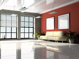 Fototapety Office interior 3D rendering