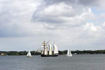 sailboats and Yacht