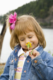 Bannie Smelling Wildflower poster