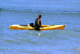 Man kayaking on his vacation in California poster