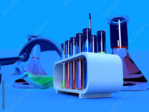 the laboratory tust tubes (3d Image)