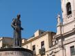 Catania statua Cardinale Dusmet piazza San Francesco
