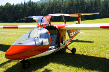 Ultralight Aircraft with pusher configuration propeller