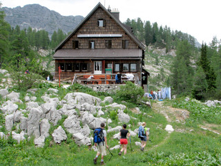 Alpine cottage achieved, slovenia, europe