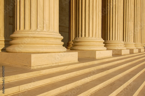 Columns at United States Supreme Court Building