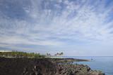 Hawaiian Resort on Volcanic Coast of Kona Island poster