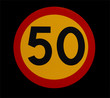 50 speed traffic sign