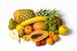 variation exotischer und heimischer früchte
